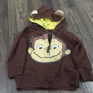 Curious George zippered hoody size 3t